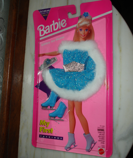 Primary image for Barbie doll clothes My First Fashions blue and silver ice skating costume 1994