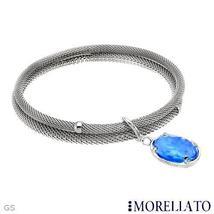 MORELLATO BRACCIALE COLLECTION DEEP BLUE SWAROVSKI CHARM BANGLE BRACELET... - $79.99