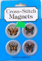 Cross-Stitch Magnets Kit  Butterflies Quill Art, Inc - $4.70