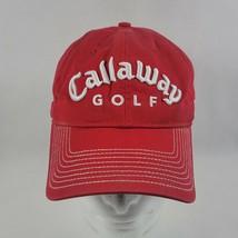 CALLAWAY GOLF  FT-5 Tour-i Adjustable Red Golf Hat Cap Fusion Distressed New Era - $11.99
