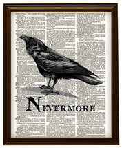 THE RAVEN NEVERMORE Edgar Allan Poe Vintage Dic... - $12.00