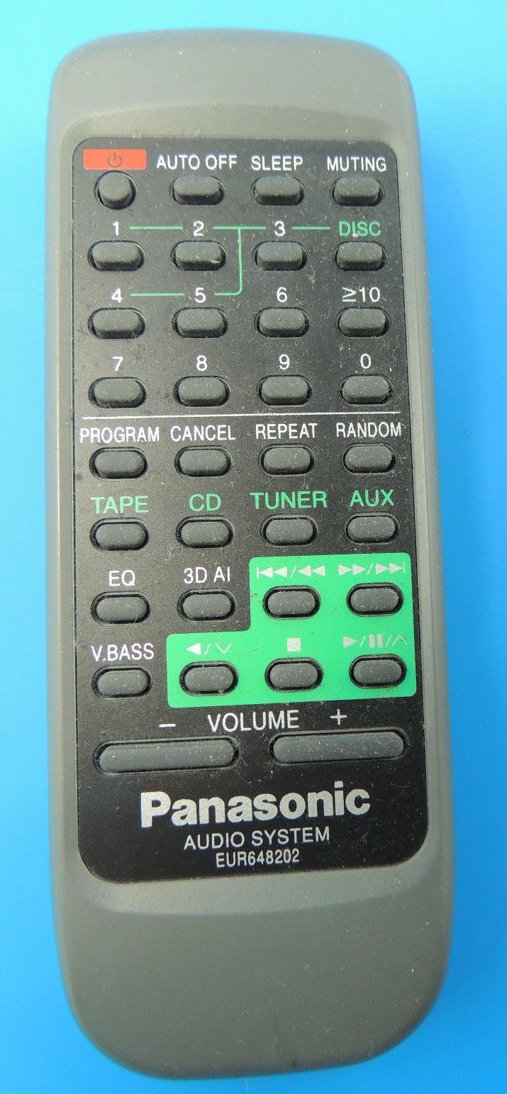 Genuine OEM Panasonic Audio System Remote Control EUR648202