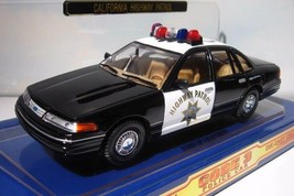 CHiPs  1998 Ford Crown Victoria  Police Highway Patrol Car & Patch 1:24 ... - $19.95