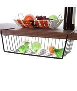 Hanging Under Wall Shelf Storage Iron Mesh Basket Cupboard Cabinet Door ... - £9.70 GBP