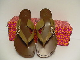 Women's Tory Burch Nora Flat Thong-Mestico Royal tan many sizes - $129.95