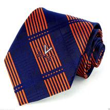 Virginia Cavaliers Men's Necktie College University Logo Plaid Blue Neck... - $31.68