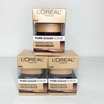 3x Face scrub L'Oreal Paris Nourish and Soften Pure Sugar + Cocoa 1.7 oz - $19.34