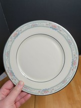 Lenox Charleston Salad Plate (1) Cosmopolitan Pastel Floral Rim Platinum... - $9.89