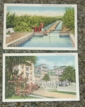 2 Hawaiian Postcards Curt Teich Art Colortone 1930s Sugar Cane Moana Hotel Unused - $17.99