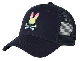 Psycho Bunny Men's Snapback Mesh Embroidered LGBT Rainbow Logo Baseball Cap Hat image 4