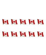 "Lote de 10 Bandera Canadá Pin Solapa 0.5"" Canada Hoja Arce Sombrero Cordón - $12.85"