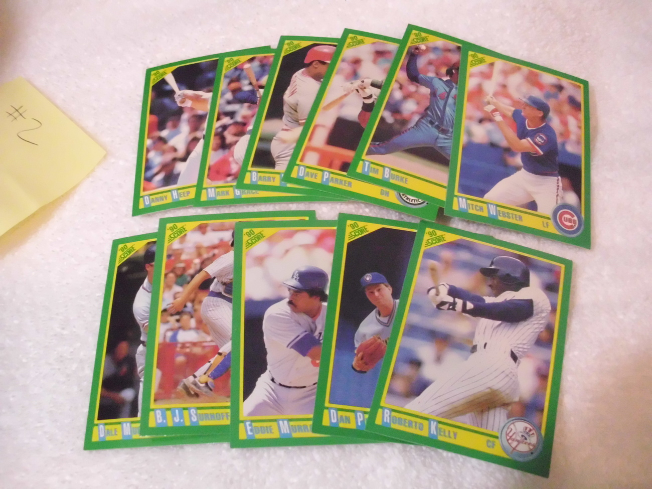 Score 90 Baseball Trading Card Lot# 1 (11 cards)