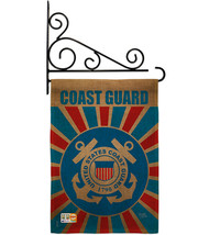 Coast Guard Burlap - Impressions Decorative Metal Fansy Wall Bracket Gar... - $36.97