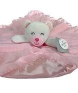 Carters Daddys Princess Pink Security Blanket Lovey Polka Dot White Bear  - $34.64