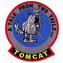Us Navy F-14 Tomcat A Tale From Two Tairs Patch - $11.87