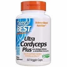 Doctor's Best Ultra Cordyceps Plus, Non-GMO, Vegan, Gluten Free, Soy Free, 60 Ve
