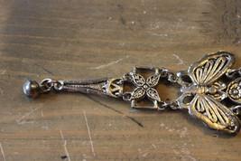 Silver Tone Ying Yang Butterfly Bracelet 7 inch - $10.10