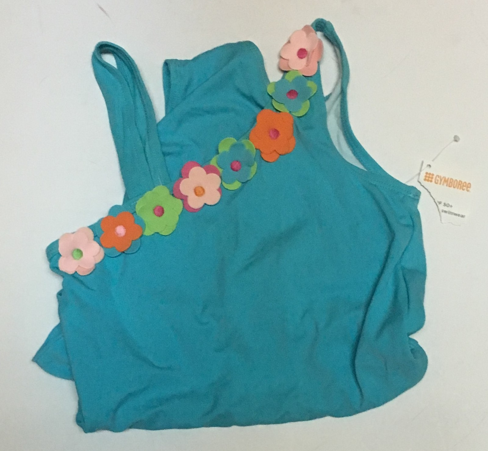 Youth Two Piece Swimwear Swimsuit Sz 12 Blue Floral SPF 50+ image 6