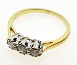 Vintage 18 Carat Gold Trilogy One Third Carat Diamond Ring Size O - $223.77