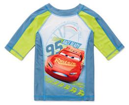 DISNEY CARS McQUEEN UPF-50+ Rash Guard Swim Top Shirt NWT Boys Size 4  $20 - $14.99