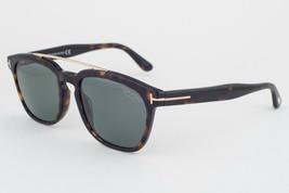 Tom Ford Holt Dark Havana / Green Polarized Sunglasses TF516 52R - $273.42