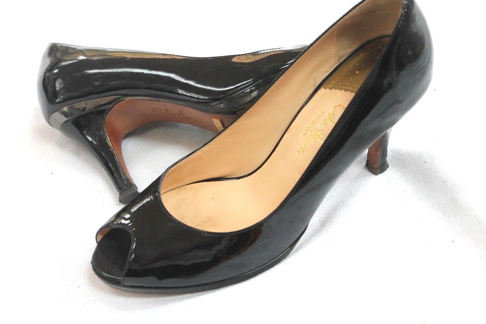b2fe831bf4c COLE HAAN Black Patent Leather Peep Toe and similar items. 57