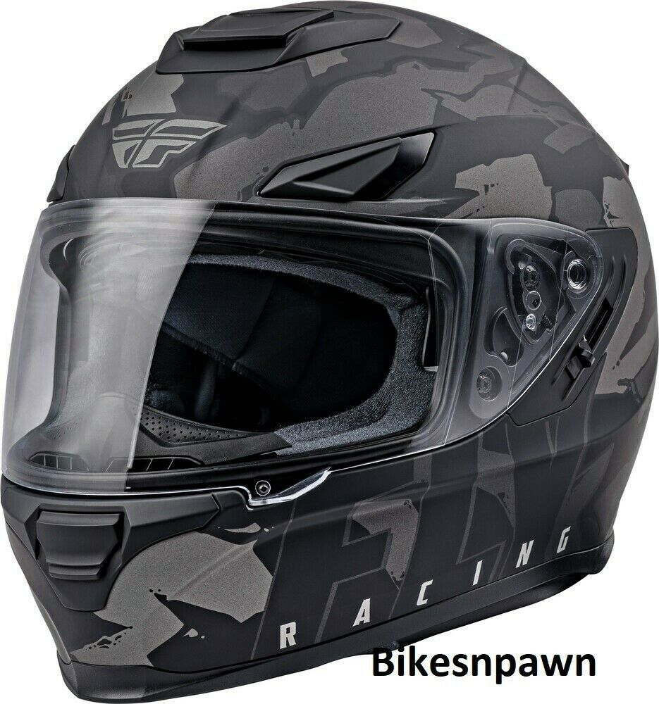 XS Fly Racing Sentinel Ambush Motorcycle Helmet Camo/Grey/Black DOT & ECE