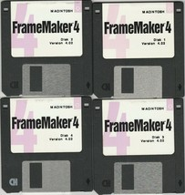 Adobe Framemaker 4 ~ 9 disk set for Macintosh ~ Version 4.02 ~ VTG - $16.21