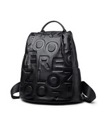 2019 hot Zooler Genuine Leather backpack designed embossed letter patter... - $96.28