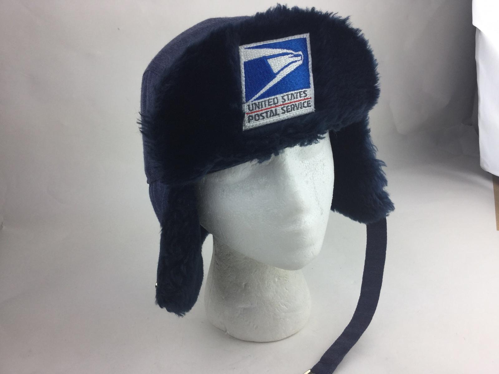 7ba6f90ab31 Vintage USPS winter troop faux fur cap hat and 50 similar items