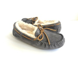 UGG DAKOTA PEWTER FULLY LINED SHEARLING FUR SLIPPERS US 9 / EU 40 / UK 7 - $92.57