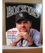 Rockies Scorecard Magazine Vol 9 No 3 June 2001 Larry Walker - $8.99