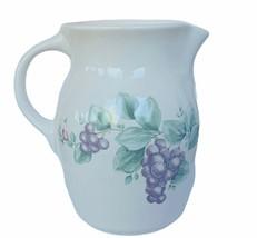 Pfaltzgraff pitcher creamer grapes vtg grapevine usa stoneware fruit serving mcm - $38.65