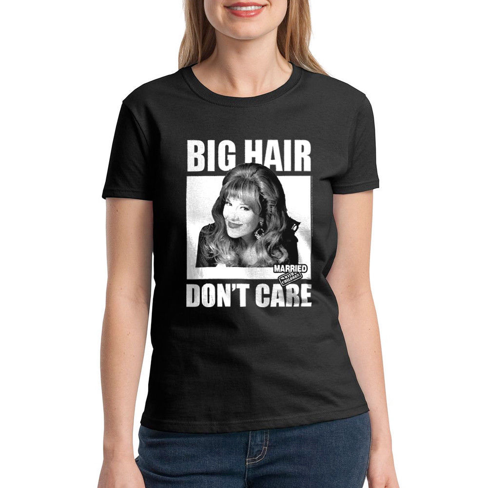 Married With Children Big Hair Women's Black T-shirt NEW Sizes S-2XL