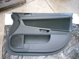 2010 MITSUBISHI LANCER BLACK RIGHT PASSENGER FRONT DOOR TRIM PANEL