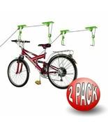 Bike Lane Bicycle Storage Lift Bike Hoist 100 LB Capacity Heavy Duty 2 Pack - $27.67