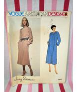 Vintage 1979 Vogue American Designer Jerry Silverman Pullover Dress #2073  - $5.00