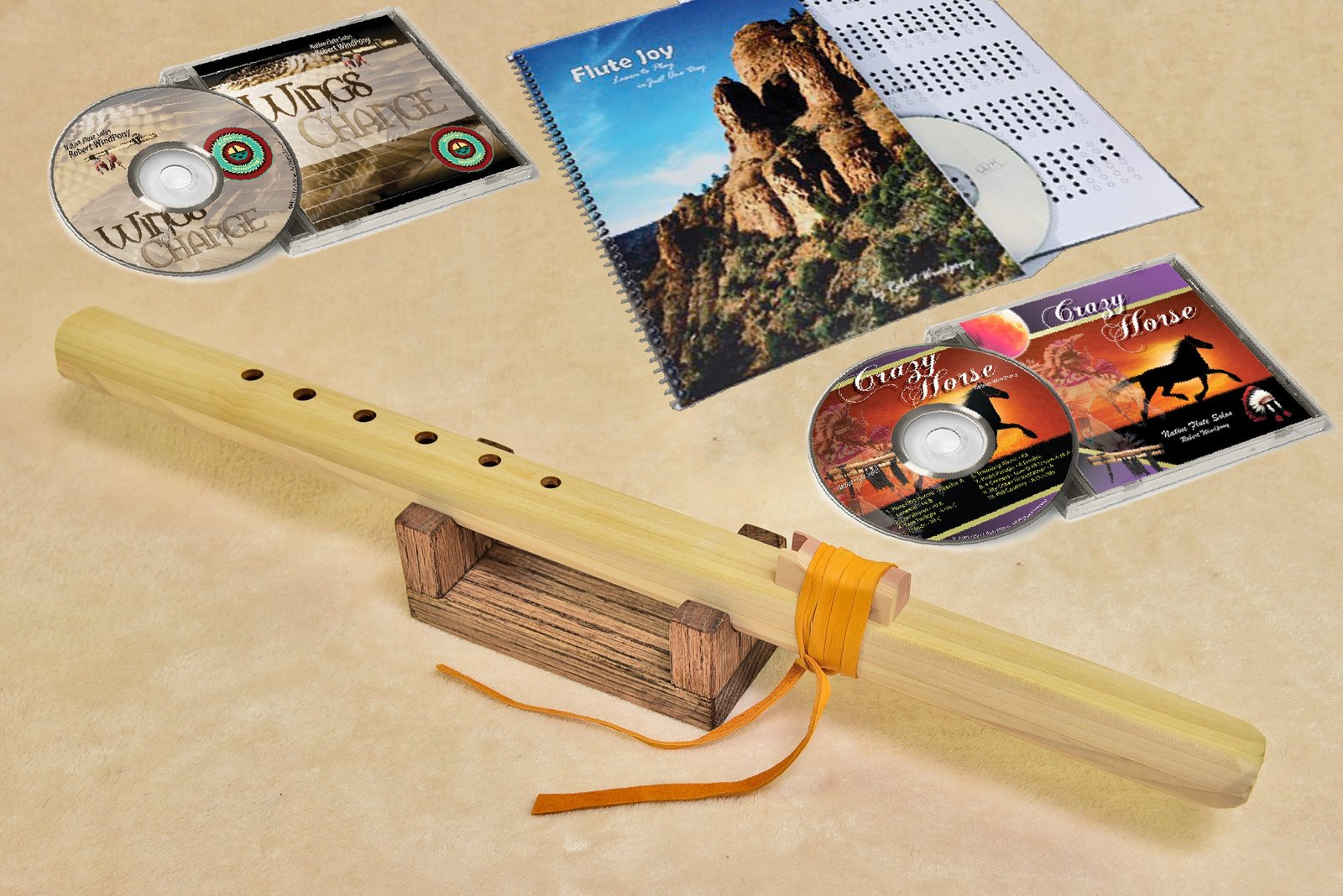 Windpony Unfinished Poplar Flute in the key of G - Complete Starter Kit