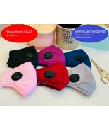 Soft Cotton Breathable Adult Face Masks with Vent Washable and Reusable - $6.92 - $19.79
