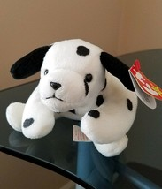 Dotty The Dalmatian Dog - Ty Beanie Buddy - Mwmt White With Black Spots - $8.86