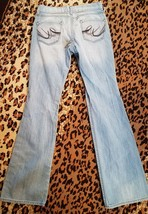 Womans Express Eva Boot Leg Light Washed Jeans Size 0 R - $12.19