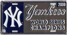 NEW YORK YANKEES 2009 WORLD SERIES CHAMPIONS LOGO  MLB  BASEBALL LICENSE... - $27.07
