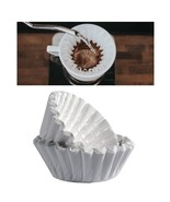 100 Count Paper Coffee Tea Filters Brewer Basket Make 8-12 Cup Maker Bre... - $15.99