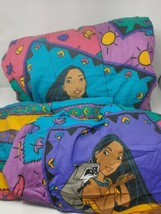Vtg Disney Pocahontas Twin comforter Set fitted sheet flat sheet and pil... - $111.84