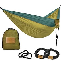 Greenmall Double Portable Camping Hammock, Soft Breathable Parachute Nyl... - $20.86