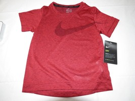 Boys Youth Nike Dri-Fit 4 XS short sleeve shirt 8MC153-R1U Universty Red... - $17.51