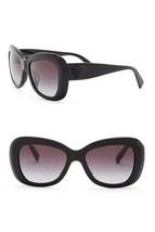 NEW VERSACE Oval Sunglasses VE4317A Shiny Black Glitter Medusa Gradient ... - $167.07