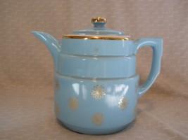 Collectible Hall Superior Gold Label Daisy Coffee Pot Robin Egg Blue no ... - $22.99