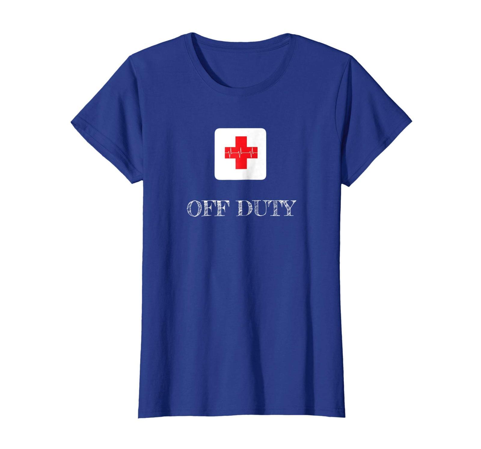 Funny Tee - Off Duty - First Aide Medic Nurse Paramedic Doctor Wowen
