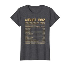 Funny Happy birthday T-Shirt - August 1992 Facts Shirt Funny Facts Shirt For Men - $19.95+